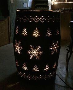 Light Up Whiskey Barrel