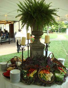 artfully displayed food