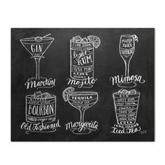 Guide to Cocktail Drinks - Print #Food #Gifts #Kitchen