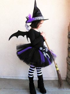 Tutu Witch Costume  Willow the Wild Witch  Black by TiarasTutus, $64.00