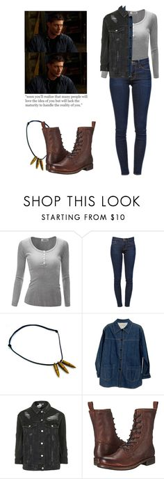 """Dean Winchester - spn / supernatural"" by shadyannon ❤ liked on Polyvore featuring Frame, Chanel, Topshop and Frye"