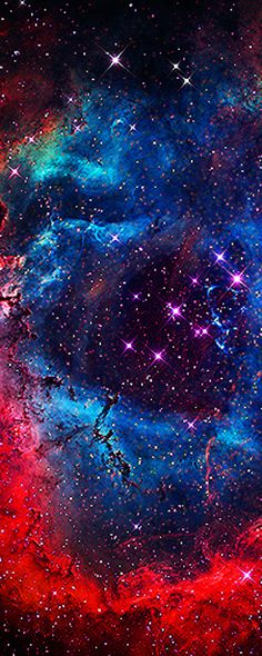 The Rosette Nebula • photo: Brian Lula / NASA - what if atoms are galaxies and vice versa? then our atomic structures would look like space...
