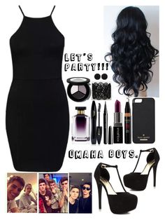 """Clubbing With The Omaha Boys."" by uniqu3ly-m3 ❤ liked on Polyvore featuring JustFabulous, Smashbox, Kate Spade, Lancôme, STELLA McCARTNEY and sweet deluxe"