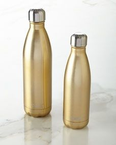 These classy water bottles are very pretty. Love the soft gold and sleek design. These will definitely stand out at the gym – Sparkling Champagne Reusable Bottle