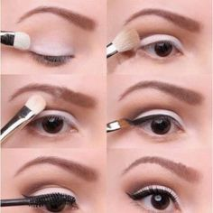 Step By Step Eye Makeup - perfect for daytime wear.