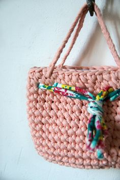 Pink purse girls crochet purse Girls pink purse by BambinoStore