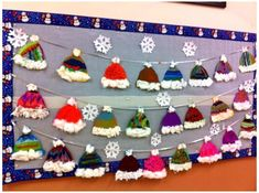 Kids Crafts, Hat Crafts, Arts And Crafts, Winter Crafts For Toddlers, Preschool Christmas Crafts, Toddler Crafts, Kindergarten Art, Preschool Art, Preschool Winter