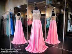 This dazzling number is top fashion, and it's at Rsvp Prom and Pageant, your source of the HOTTEST Prom and Pageant Dresses! Pink Prom Dresses, Grad Dresses, Pageant Dresses, Mermaid Dresses, Dance Dresses, Ball Dresses, Homecoming Dresses, Cute Dresses, Beautiful Dresses
