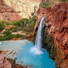 Follow @ExploreMoreNature for more of his amazing travels!  Welcome to Havasu Falls | Havasupai, Arizona | Photo by Mike Kovalsky @ExploreMoreNature
