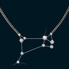 "Diamond Constellation Aries Necklace 18"" #constellationpendant #diamondconstellation #ariesnecklace"