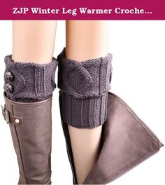 ZJP Winter Leg Warmer Crochet Knit Boot Socks. Buy with Confidence!!! Customer Satisfaction Guaranteed!!! Features: · Material: Soft Acrylic,Cotton blend, Length:6.1''.Width:4.9-7.5'' · These super soft leg warmers adorned with lace and buttons · keeps you warm and looking good in the cold weather · Easy to match and suitable for any style of clothes · Hand wash cold and drip dry,do not bleach. · Package include:1 pair x leg warmer --------------------------------------------------------...