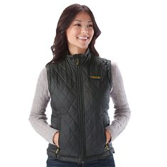 Heated Insulated Women's Vest with Rechargeable Battery When the temperature drops, press a button for extra heat. Keeps you warm for up to 10 hours.