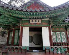 Buyongjeong (Buyongji und Juhamnu) im Secret Garden vom Changdeokgung Palace, Seoul