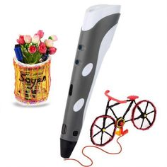 Give wings to creativity and curiosity of your little genius with this Printing Pen for Kids. Pen comes with with ABS Filament Sample and Drawing templates. It is easy to use and make stuff like models, doodling or drawing interesting things. 3d Printer Price, Best 3d Printer, Artist Pens, 3d Artist, Crafts To Make, Arts And Crafts, Diy 3d, 3doodler, Drawing Templates