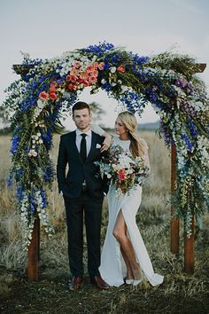 Friday Five // Fabulous Floral Altars. Talk about impact! This is one fabulous trend that certainly gives a ceremony the wow-factor