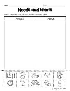 Worksheets Needs And Wants Worksheet Cut And Paste 1000 images about social studies on pinterest goods and this is a great cut paste worksheet for needs wants children will out the pictures of times decide if someth