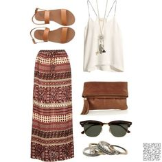 21. #Shades of Brown - Look on #Fleek with These Boho Chic #Outfits for Summer ... → #Fashion #Black
