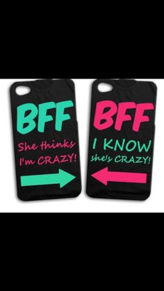 Best friend phone cases!!! We need these
