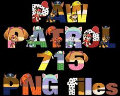 Paw Patrol Alphabet Printable Alphabet Capital Letters, Letters And Numbers, Lower Case Letters, Lowercase A, Paw Patrol, Your Design, Vibrant Colors, Card Stock, Banner