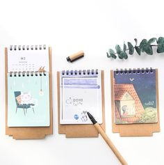 Office & School Supplies Calendar 2019 Year Cute Landscape Creative Desk Standing Paper Multifunction Organizer Schedule Planner Notebook New Cartoon Calendar