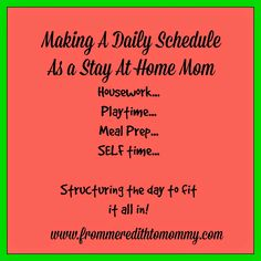 Daily Schedule From A Sample Schedule From HttpCsahmComHome