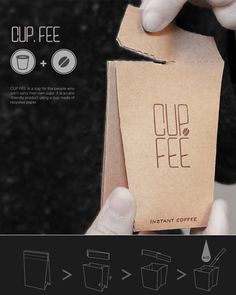 Brown Bag Coffee Designs : coffee cup packaging  http://www.trendhunter.com/trends/coffee-cup-packaging
