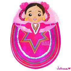 México colores y diseños de sus trajes típicos Jalisco