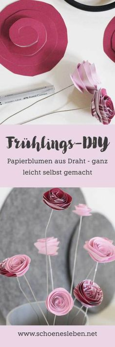 Fixe Frühlingsbastelei: Papierblumen selber machen If spring does not come, we'll do it ourselves! Making paper flowers is totally easy. Katrin explains how to do it. Large Paper Flowers, Paper Flower Wall, Paper Flower Backdrop, Diy Flowers, Flower Ideas, Diy Gifts For Kids, Diy For Kids, Crafts For Kids, Paper Peonies