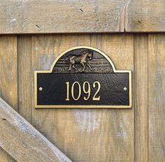 Mini Ranch Stall Address Plaque Entryway Size - Cool!