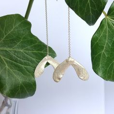 Sterling silver Sycamore earrings - product images
