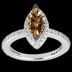 1.65 Ct. marquise chocolate diamond ring by diamondsfromnewyork, $3285.00
