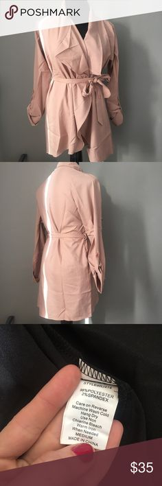 Latte Colored Wrap Jacket Fun! Classy! Beautiful! Light Weight Fit True to Size Multiple Colors & Sizes Available  Listing is for Color Pictured  Please ask any questions  Open to Offers Jackets & Coats Trench Coats