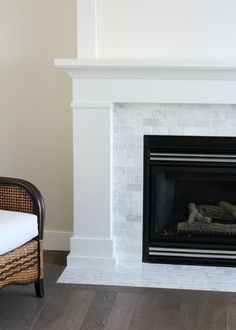 Shaker Style Trim And Doors The Makeover Details Home Fireplace Fireplace Design Fireplace Surrounds