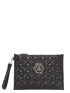 PHILIPP PLEIN Philipp Plein Clutch. #philippplein #bags #leather #clutch #hand bags #