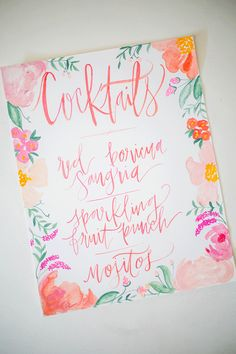 floral watercolor day of stationery // Shannon Kirsten