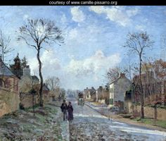 The Road to Louveciennes, 1872 - Camille Pissarro