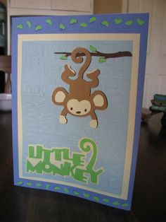 Birthday Card made with Cricut Expression 2.  Using Cricut cartridge Life's a Party.