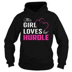 I Love This Girl Loves Her HURDLE Pink T-Shirts