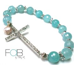 Pulsera Blue Faith, Linea Basics  ventafab@gmail.com / 6252-6462