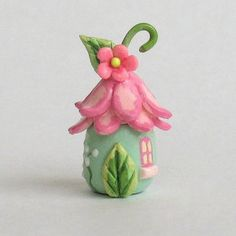 This miniature fairy blossom house secret box is a one of a kind original design and creation by artist C. It is completely hand made, hand Polymer Clay Fairy, Polymer Clay Miniatures, Polymer Clay Crafts, Clay Projects, Diy Craft Projects, Clay Fairy House, Fairy Houses, Mini Fairy Garden, Fairy Crafts