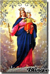 IMAGENES RELIGIOSAS: Virgen María Jean Bosco, Saint Esprit, My Maria, Santa Maria, Madonna And Child, Hail Mary, Holy Family, Catholic Saints, Blessed Mother Mary
