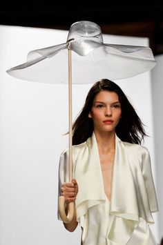 Hussein Chalayan SS 2014. That umbrella and luxurious silk <3