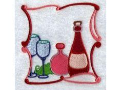 Please Repin!  Wine Blocks Machine Embroidery Designs  http://www.designsbysick.com/details/wineblock