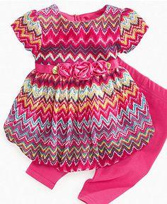 Sweet Heart Rose Baby Set, Baby Girls Patterned Dress and Leggings - Kids - Macy's