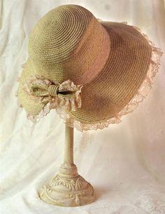 Victorian Style Floral Sonnet Sunbonnet Woven Hat  #Unbranded #Sunbonnet #Garden