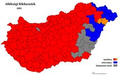 Religious map of Hungary 2001 _  2