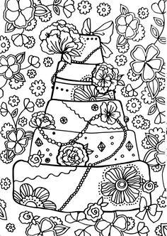 Livro de Colorir Arteterapia Criativa - Adult Coloring pages Cupcake  cakes