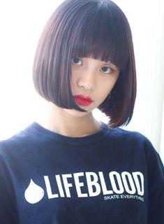 ☆黒髪でも◎前下がり重めショートボブ☆|髪型・ヘアスタイル・ヘアカタログ|ビューティーナビ