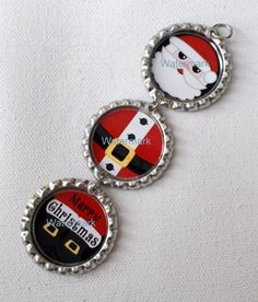 Santa Claus Christmas Ornament handmade by JeJeweled by JeJeweled, $7.00