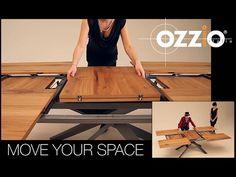 Ozzio | 4x4 | Tavolo da pranzo allungabile | Extendable table | Italian space saving furniture - YouTube